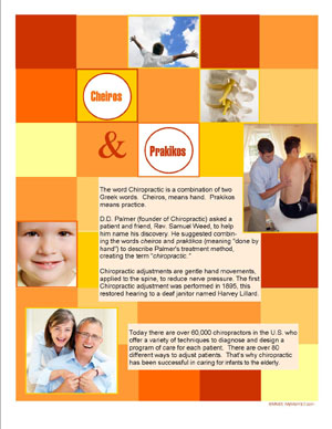 MyMarKit7 Patient Education Flyer - The Meaning of Chiropractic - Red